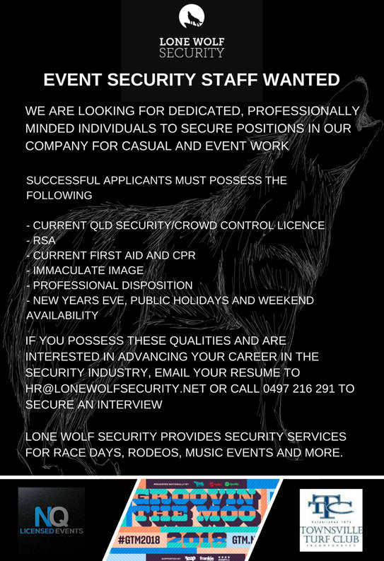 Event Security Staff Wanted